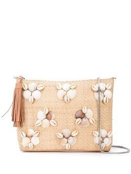 Loeffler Randall embellished clutch bag - White