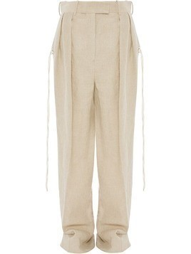 JW Anderson double pleats flared trousers - NEUTRALS