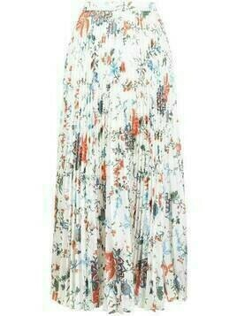 Erdem floral-print pleated skirt - White