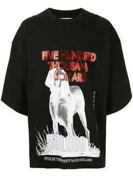 "Yoshiokubo oversized ""greyhound"" T-shirt - Black"