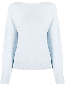 Vince long-sleeve fitted jumper - Blue