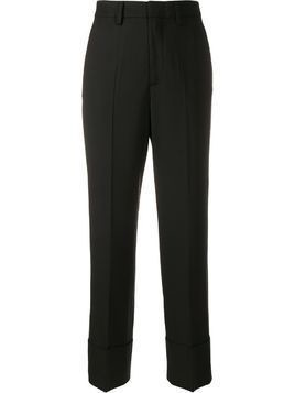 Closed straight-leg tailored trousers - Black