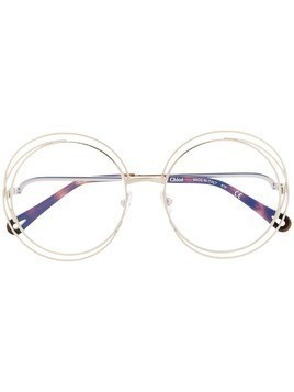 Chloé Eyewear wire accent glasses - Gold