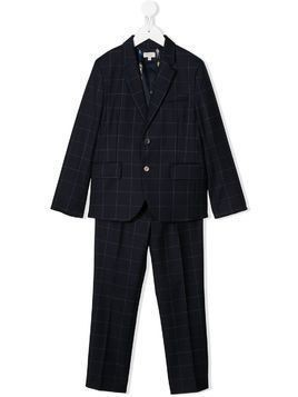 Paul Smith Junior plaid two-piece suit - Blue