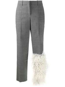 Loewe faux fur panel tailored trousers - Grey