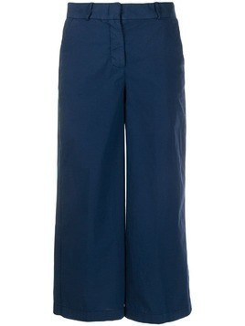 Kiltie cropped tailored chinos - Blue