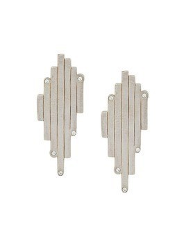 Charlotte Valkeniers Large Matrix stud earrings - Silver