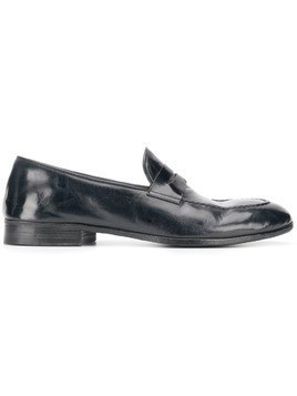 Alberto Fasciani weathered penny loafers - Black