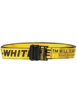 Off-White logo industrial belt - Yellow