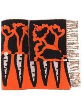 Henrik Vibskov carrot print scraf - Orange