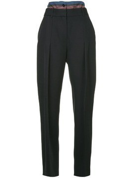Victoria Victoria Beckham striped waistband trousers - Black