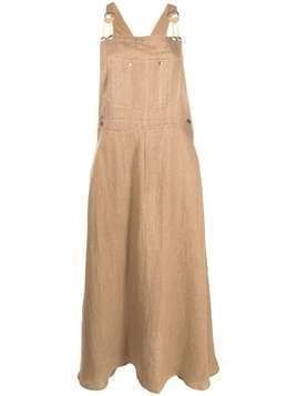Mes Demoiselles Sable dungaree dress - Brown