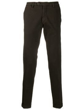 Al Duca D'Aosta 1902 turned hem trousers - Brown