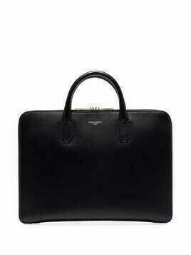 Dolce & Gabbana logo-embossed leather briefcase - Black