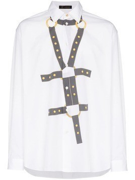 Versace Harness Bond Print Shirt - White