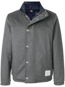 Thom Browne Reversible Down-Filled Cashmere Jacket - Grey