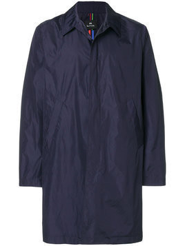 Ps By Paul Smith - single-breasted raincoat - Herren - Polyester - S - Blue