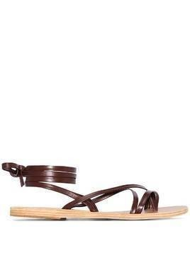 Ancient Greek Sandals Morfi leather sandals - Brown