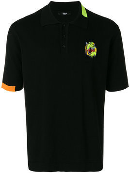 Versus - embroidered logo polo shirt - Herren - Cotton/Polyester - 48 - Black