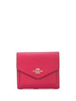 Coach Crossgrain small wallet - Red