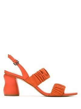 Mara Mac asymmetric heels leather sandals - Orange