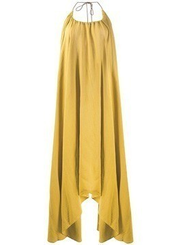 Caravana halter neck dress - Yellow
