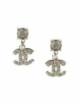 Chanel Pre-Owned 2006 CC shaking earrings - SILVER