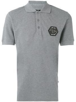 Philipp Plein logo polo shirt - Grey