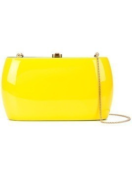Rocio rounded shape clutch bag - Yellow