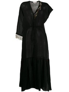 Giacobino bead embellished shirt dress - Black