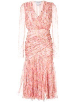 Giambattista Valli silk floral dress - PINK
