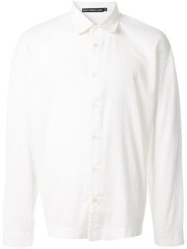 Issey Miyake stretch pleat shirt - White