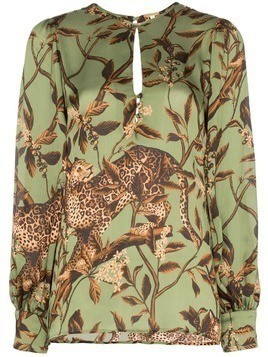 Johanna Ortiz Gifts of Nature printed blouse - Green