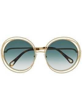 Chloé Eyewear Carlina Chain sunglasses - Brown
