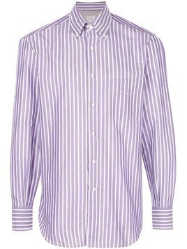 Brunello Cucinelli striped button down shirt - Purple