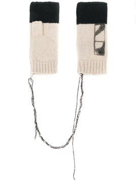 Federico Curradi Cashmere-knit fingerless gloves - White