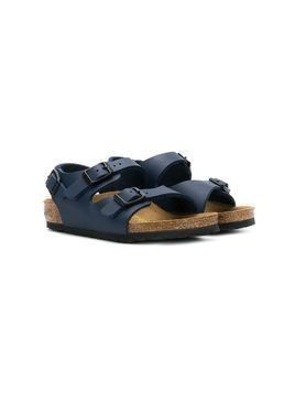 Birkenstock Kids buckle flat sandals - Blue
