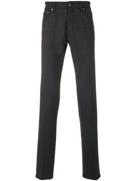 Jacob Cohen - slim fit trousers - Herren - Virgin Wool/Spandex/Elastane/Polyester/Cotton - 38 - Grey