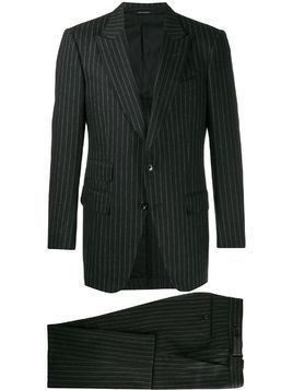 Tom Ford striped two piece suit - Black