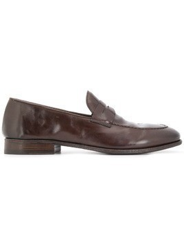 Alberto Fasciani weathered penny loafers - Brown