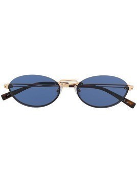 Max Mara slim oval sunglasses - Gold