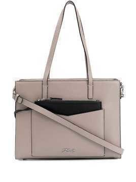 Karl Lagerfeld K/Pocket large tote bag - Grey