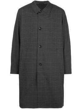 Saturdays Nyc windowpane-check driving coat - Black