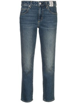 AMO Kate mid rise slim straight jeans - Blue
