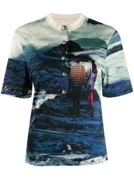 Chloé graphic print shirt - Blue