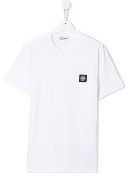 Stone Island Junior logo T-shirt - White