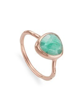 Monica Vinader Siren Stacking Amazonite ring - Blue