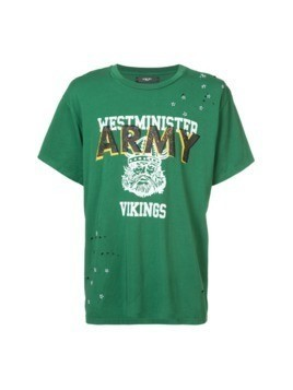Amiri Westminster Vikings print T-shirt - Green