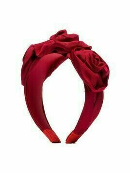 Jennifer Behr oversized rose appliqué headband - Red