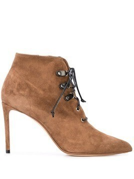 Francesco Russo stiletto ankle boots - Brown